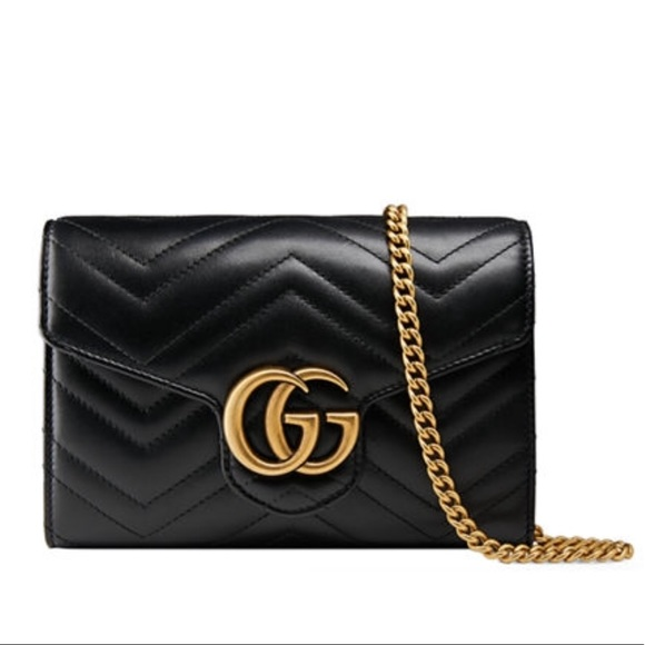 a5782528943d28 Gucci Bags | Gg Marmont Matelass Leather Wallet On Chain | Poshmark